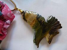 GRANDE Naturale Picasso Jasper Pietra Preziosa Collana con Pendente Bird, One-Off di gioielli