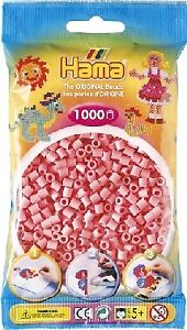Hama 207-06 - Confezione  perline da stirare  color rosa 1.000 pezzi