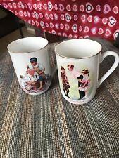 Norman Rockwell Set Of 2 Coffee Mugs