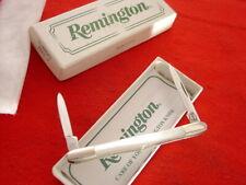 "Remington Made in USA 3"" Genuine Pearl 2 Blade Tuxedo Pen Knife MINT IN BOX"