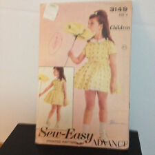 Advance 3149 - Sweet Retro Styling in This Toddler Dress - Size 4