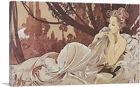 ARTCANVAS Dusk 1899 Canvas Art Print by Alphonse Mucha