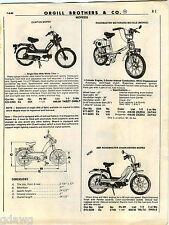 1980 ADVERTISEMENT Moped Mini Bike Tecumseh Columbia Commuter Roadmaster Clinton