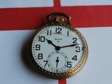 Vintage 1949 Elgin 10Kgf 17J 16s Pocket Watch - For Repair / Parts