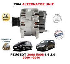 FOR PEUGEOT 3008 5008 1.6 HDI 2.0 HDI 2009> 150A 12V ALTERNATOR UNIT WITH PULLEY