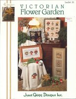 Victorian Flower Garden Cross Stitch Leaflet 36 June Grigg 1992 Doorstop Afghan