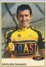 CYCLISME carte cycliste  ARBILLA AITOR GARMENDIA équipe COAST 2001