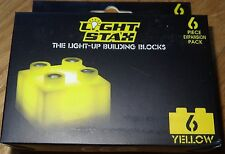 Light Stax 6 Piece YELLOW Expansion Pack Light up Construction Building Block