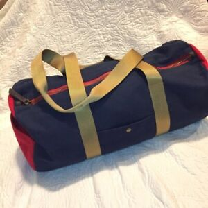 Old Navy Blue Red Duffle Bag Luggage