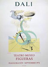 Dali Salvador 1974, affiche originale en litho, Teatro Museo Figueras, Mourlot