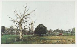David FRAZER On The Edge of Town - Big superb signed original etching, landscape