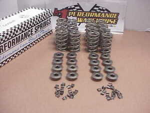 """16 PSI Valve Springs 1.400"""" O.D. & Mini Retainers & 7mm Mini Valve Locks NASCAR"""