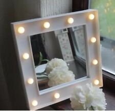 WHITE LED HOLLYWOOD STYLE  WALL MIRROR GIRLS ROOM BATHROOM MIRROR BEDROOM GIFT