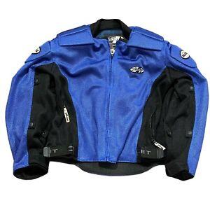 Joe Rocket Ballistic Blue Motorcycle Jacket Padded Men's XL Mesh Outer w/ Kevlar