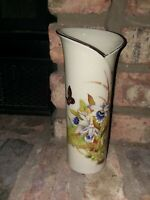 Toyo Tropical Orchid Vintage Floral Butterfly Vase Japan