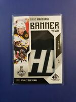 2016-17 Brad Marchand SP Game Used Banner Year Stanley Cup #BSC-BM Boston Bruins