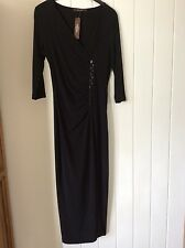New women's black formal/party evening/Christmas party dress UK size 10
