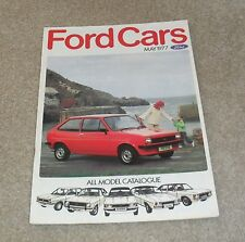 Ford Brochure 1977 Escort RS1800 RS2000 RS Mexico Granada Ghia Coupe Capri S 3.0