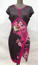 Tequila Sunrise 12 vintage retro rockabilly pink black floral dress short sleeve
