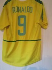 Brazil 2002 Home Ronaldo 9 Football Shirt Size Large /43371