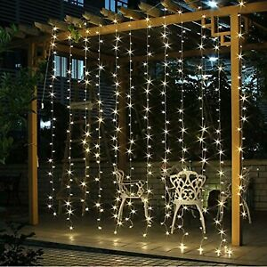 Twinkle Star 300 LED Window Curtain String Light | Warm White | All Occasions