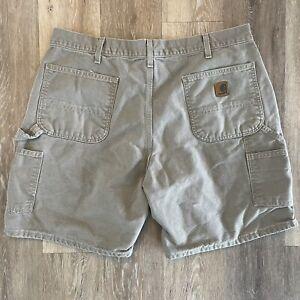 Carhartt Cargo Carpenter Shorts Men's Size 38 Original Fit Tan
