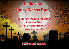 Personalised Kids Halloween / Birthday Party Spooky Graveyard  Invite pk 10