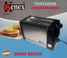 TOSTADORA KENEX KNX-14, 2 rebanadas DESAYUNO control tostado TOSTADOR de PAN