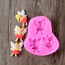Fairy Design Resin,Clay Crafts Molds DIY Chocolate Fondant Cake Decoration Mould