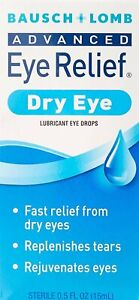 Bausch & Lomb Advanced Eye Relief Rejuvenation Lubricant Drops 0.50 oz (3 Pack)