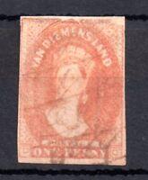 Tasmania QV 1d chalon WMK 1 Numeral 1857 fine used WS10372