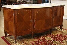 Rare Bronze Mounted French Bombe Marble Top Sideboard Server Buffet Restored