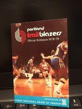 Portland Trail Blazers: 1978-79 Pocket Schedule