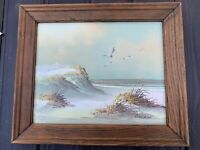 Original Oil Painting, Impressionism, Seascape With Sea grass Signed by Gorman