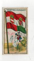 1910 AUSTRIA HUNGARY FLAG E15 Tobacco Card AMERICAN CARAMEL Caramels AUSTRO Wien