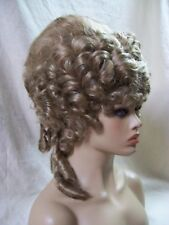 Lt Brown Empress Wig Marie Antoinette Historical Lady Duchess French Queen Royal