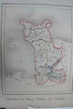 Frankreich - Département de la Manche - Landkarte