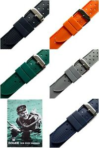 20mm Silicone Rubber Tropic Skin Diver Watch Strap Band Made For Rolex