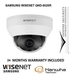 SAMSUNG WISENET QND 8020R/8010R DOME IR NETWORK IP FULL HD CAMERA 5MP CCTV POE