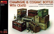 MiniArt 35575 Champagne Cognac Bottles & Wooden Crates - Kisten Flaschen - 1:35