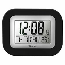 Westclox 9 in. Digital Wall Clock, Gray