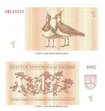 Lithuania 1 Talonas 1992  P-39 Banknotes UNC