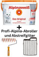 Alpina Innenfarbe Wandfarbe Alpinaweiß matt 10 L+ Alpina-Roller & Abstreifgitter