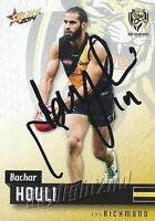 ✺Signed✺ 2014 RICHMOND TIGERS AFL Card BACHAR HOULI