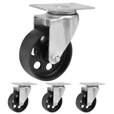 "4 Pack 3"" 3.5 "" Iron Caster Wheels Swivel Ball Bearing Steel Steel Top Plate"