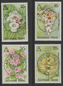ASCENSION 1985 Wild Flowers used set sg389-392