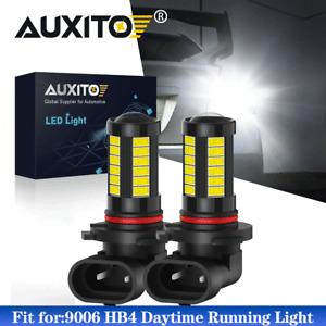 2X 9006 LED Fog Light Bulbs DRL 2000LM HB4 5630 33-SMD 12V Super Bright 6000K