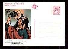 BELGIUM 1975 MINT STATIONERY POSTCARD, ST. CHRISTOPHE BY HANS MEMLING !!