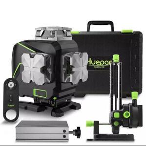Huepar S04CG laser level 4D 4x360  Bluetooth ,Remote control ,LCD