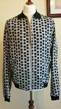 Dolce & Gabbana lunares chaqueta de bombardero de tamaño grande Italia 52 Reino Unido 42